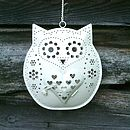 Retro Hanging Owl Tealight Holder