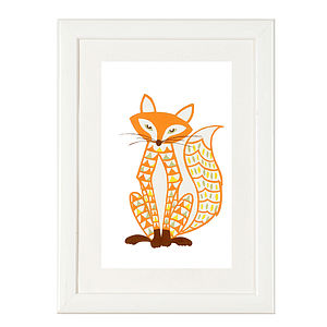 Felix The Fox Print - children's pictures & paintings