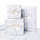 Dorset Beach Hut Gift Wrap