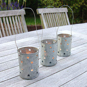 Hanging Stars Lantern - candles & candlesticks
