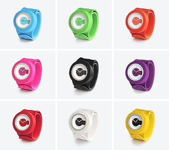 Set Of Nine Classic Snap Strap Watches