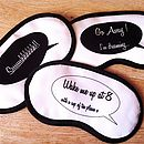 Personalised Satin Sleep Mask