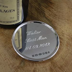 Personalised Silver Drinks Coaster - placemats & coasters