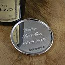 Personalised Silver Drinks Coaster