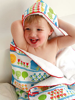 Train Design Hooded Towel