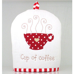 Embroidered Cafetiere Cosy