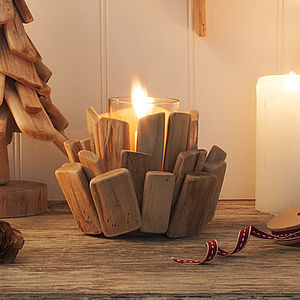 Driftwood Tea Light Holder - lighting