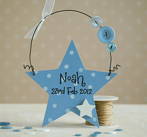 Personalised New Baby Star Keepsake - keepsakes