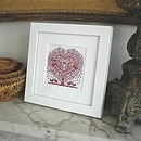 Miniature Treeheart With Songbirds Print