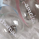 Personalised Papercut Christmas Glass Bauble