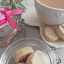 Personalised Vanilla Shortbread Favour Jars