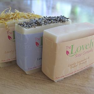 Lavender Handmade Soaps Gift Selection - bath & body