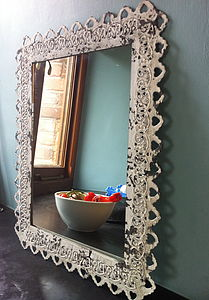 Ornate Framed Mirror - living room