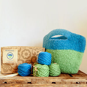 Felt Bag Knitting Kit - knitting kits
