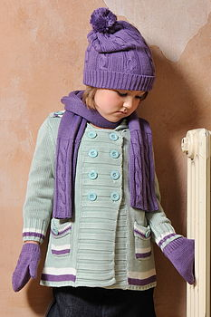 Girls Bamboo Knitted Cardigan Coat