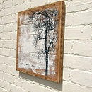 Handmade 'Embrace' Reclaimed Wood Print