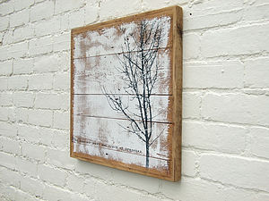 Tree Print; 'Roar Of Trees' Reclaimed Wood Print
