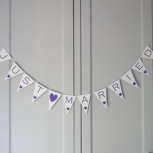 Just Married Bunting - room decorations