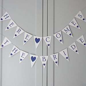 Wedding Signage Bunting - outdoor decorations