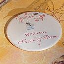 Personalised Love Birds Wedding Favour