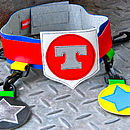 star utility belt (red/blue) personalised
