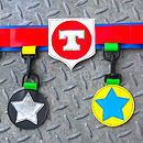 star utility belt (red/blue)