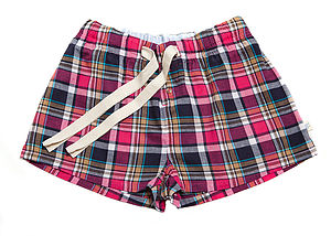 Martinique Checked Lounge Shorts - loungewear
