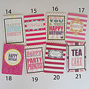 Female birthday greeting cards