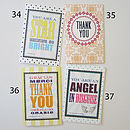 Thank You greetings cards