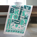 Bristol City Tea Towel