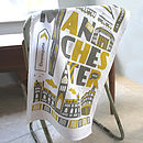 Manchester Typographic Tea Towel