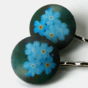 Forget Me Not Hair Grips - flower girl gifts