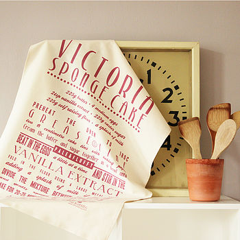 Victoria Sponge Cake Recipe Tea Towel