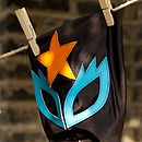glam rock mask (black,orange,turquoise)