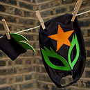 glam rock cuff/mask set (black,green,orange)