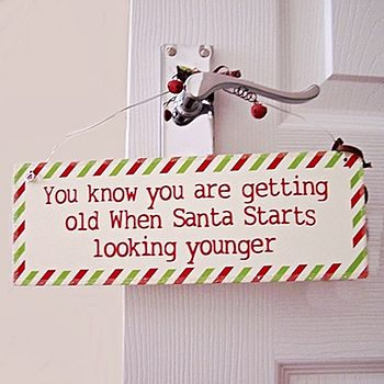 Christmas Hanging Wooden Sign