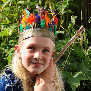 Rainbow Feather Headband - toys & games