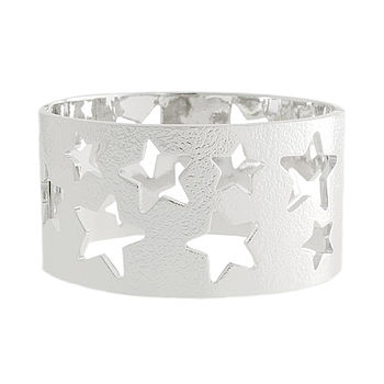 Silver Super Star Bangle