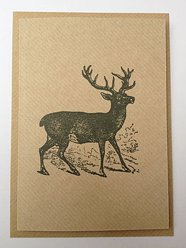 Stag Greeting Note Card
