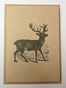 Stag Greeting Note Card - all purpose cards, postcards & notelets