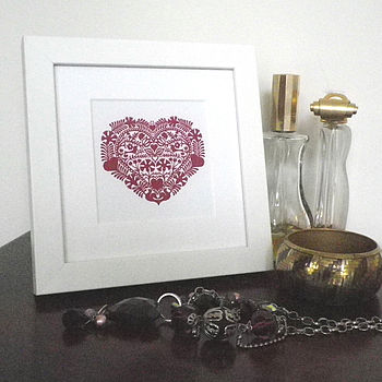 Miniature Romantic Heart Love Token Print