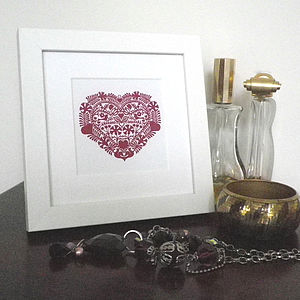 Miniature Romantic Heart Love Token Print - posters & prints