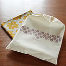 Screen printed cotton draw-string bag