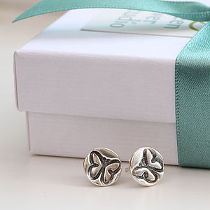 Butterfly Motif Silver Ear Studs - earrings
