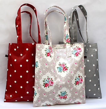 Oilcloth Vintage Inspired Book Bags