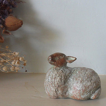 Deborah Scaldwell Sitting Sheep Sculpture