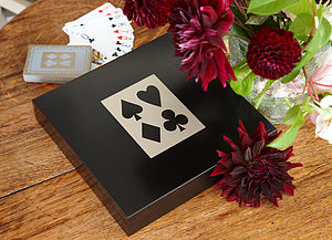 Luxury Playing Cards: Slate Grey/Duck Egg - toys & games