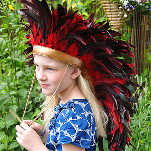 Feather Headdress Red
