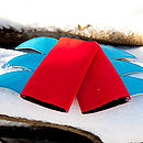 blade cuffs (red/turquoise)