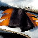 blade cuffs (black/orange)